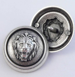18mm Old Silver Lion Head Metal Shank Suit Button