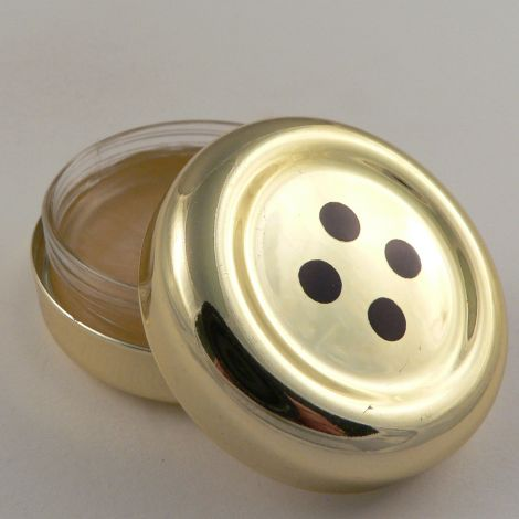 42mm Orange Flavoured 4 Hole Button Pot of Lip Gloss