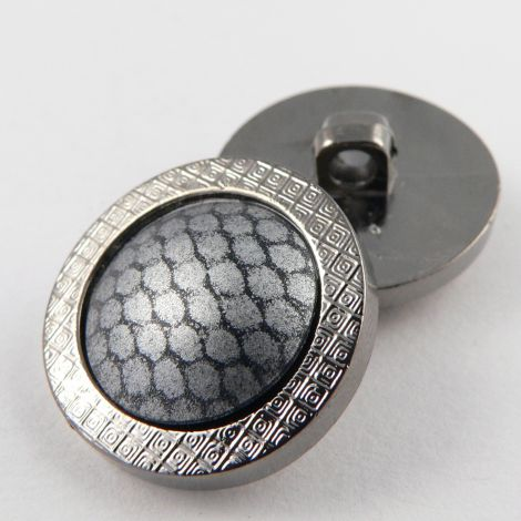 23mm Silver Unusual Slightly Domed Shank Coat Button