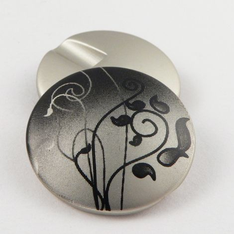 25mm Abstract Floral Shank Coat Button