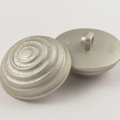 25mm Silver Pyramid Domed Shank Coat Button