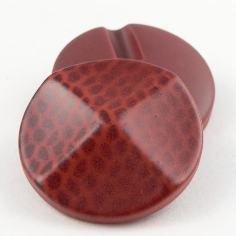 25mm Red Speckled Print Shank Coat Button