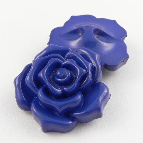 20mm Blue Rose Shank Sewing Button