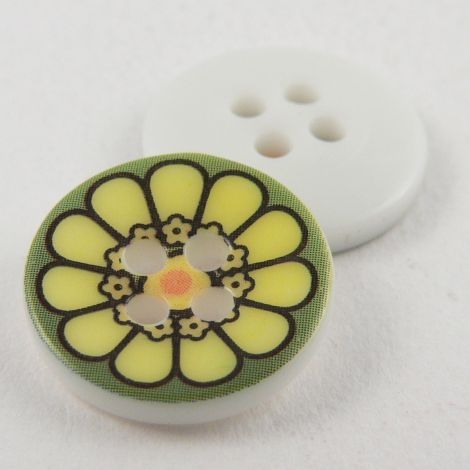15mm Flower 4 Hole Sewing Button