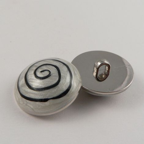 18mm Domed Enamel Contemporary Shank Sewing Button