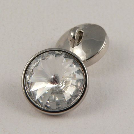 16mm Crystal Faceted Shank Button
