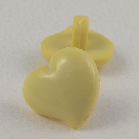 12mm Domed Yellow Heart Shank Button