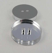 11mm Round Clear Mirror 2 Hole Button