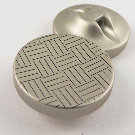 25mm Parquet Print Shank Coat Button