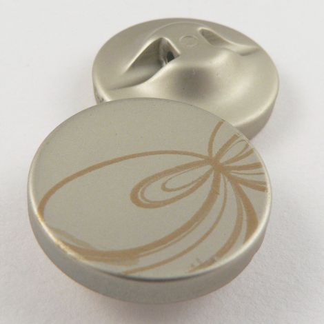 25mm Pale Gold Contemporary Print Shank Coat Button