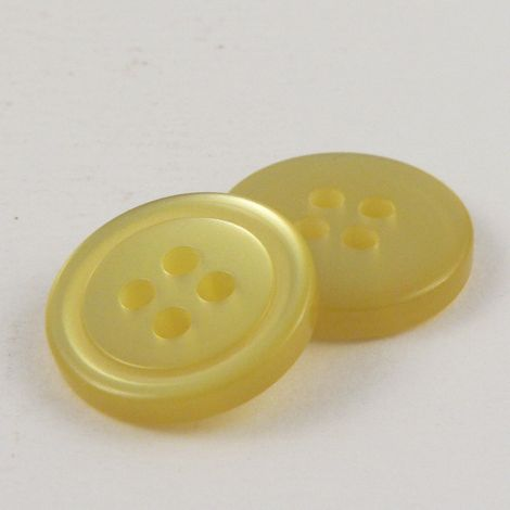 10mm Yellow Shirt Style 4 Hole Button