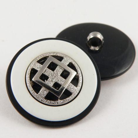 25mm Contemporary Cross Style Shank Coat Button