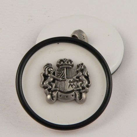 15mm Coat of Arms Shank Sewing Button
