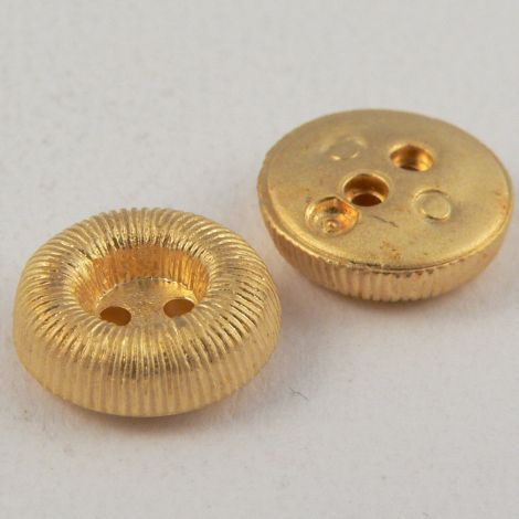 12mm Gold Shirt Style 2 Hole Button