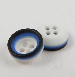 11mm Plastic Multicoloured 4 Hole Button