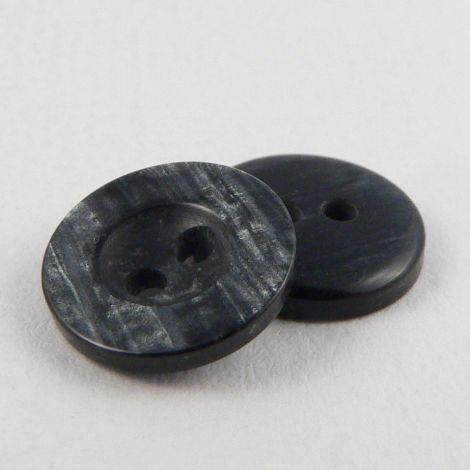 11mm Grey Marble Pearlised 2 Hole Shirt Button