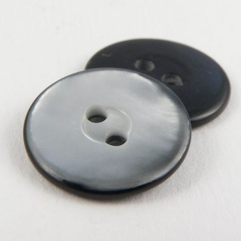 18mm Grey/Black Pearlised 2 Hole Sewing Button
