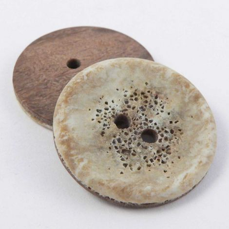 23mm Natural Stone Effect 2 Hole Sewing Button
