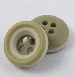 10mm Khaki & Cream Rubber 4 Hole Button
