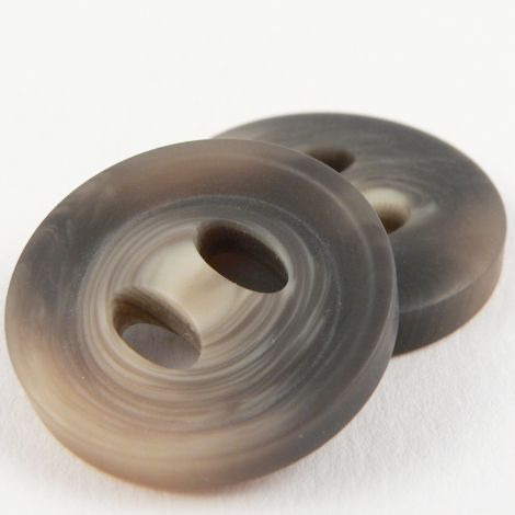 25mm Ribbon Hole Horn Effect 2 Hole Coat Button