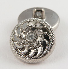 20mm Ornate Silver/Diamante Shank Button