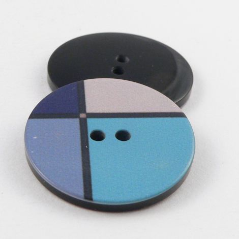 18mm Blue Retro 2 Hole Sewing Button