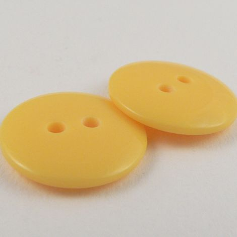 12mm Yellow Plastic 2 Hole Sewing Button