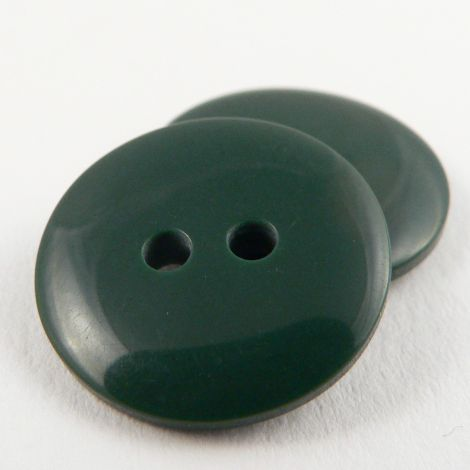 12mm Forest Green Plastic 2 Hole Sewing Button