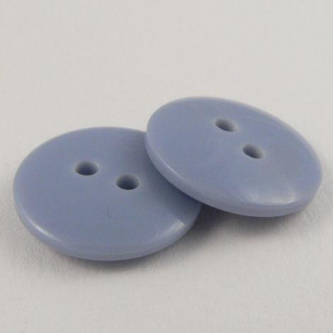 12mm Blue Plastic 2 Hole Sewing Button