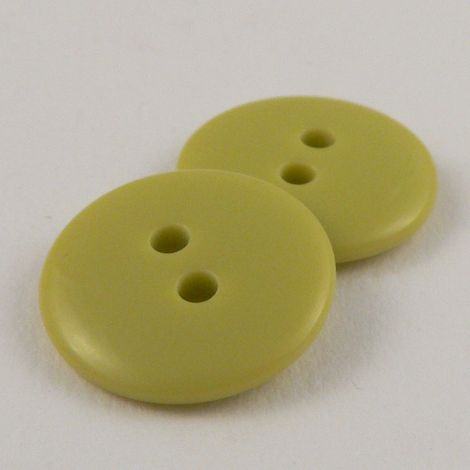 12mm Lime Green Plastic 2 Hole Sewing Button