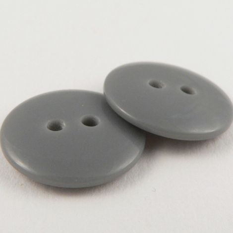 18mm Grey Plastic 2 Hole Sewing Button