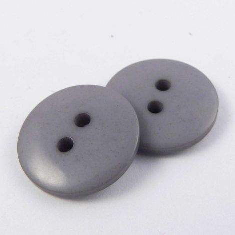 12mm Grey 2 Hole Sewing Button