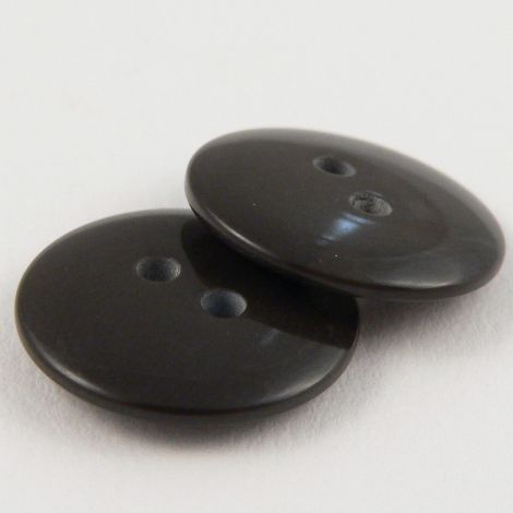 18mm Chocolate Brown Plastic 2 Hole Sewing Button