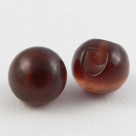 12mm Amber Round Ball Shank Sewing Button