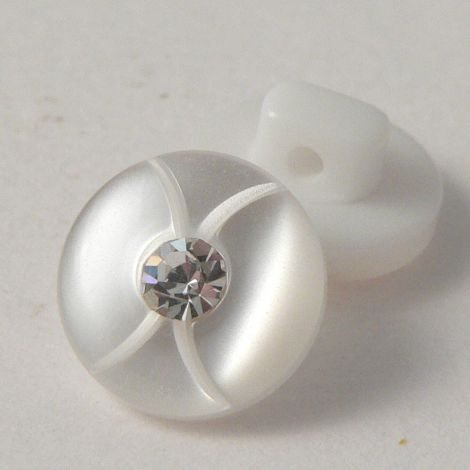 10mm Opaque Diamante Shirt  Shank Button