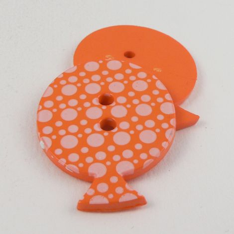 28mm Orange Dotty Balloon 2 Hole Button