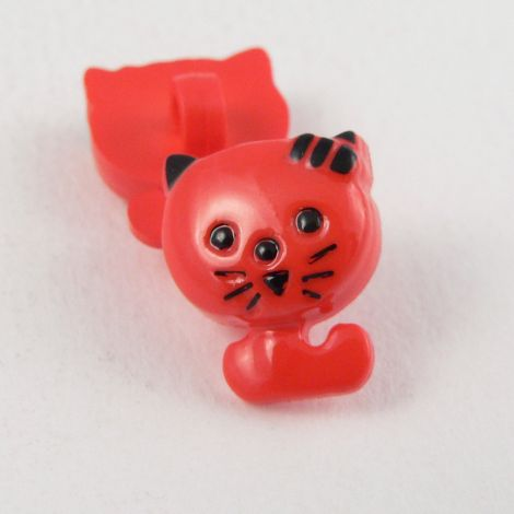 12mm Cute Red Cat Shank Button