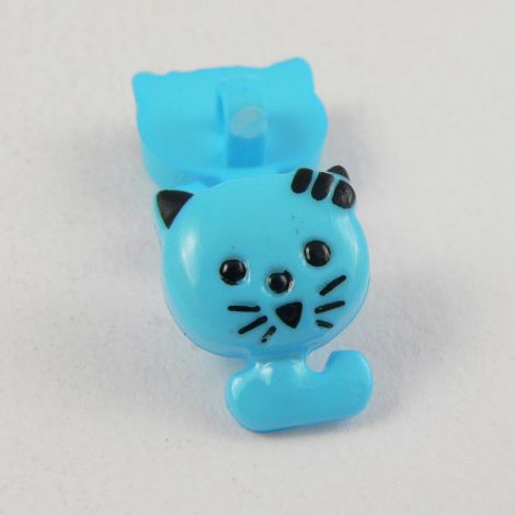 12mm Cute Blue Cat Shank Button