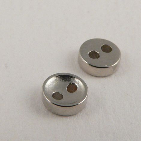 5mm Silver 2 Hole Button