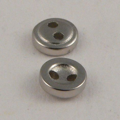 4mm Silver 4 Hole Button