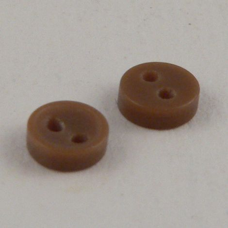 5mm Brown 2 Hole Button