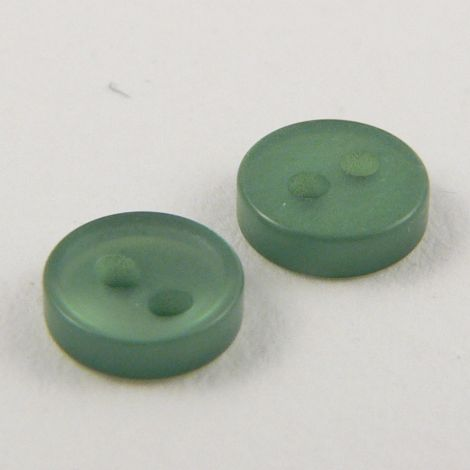 6mm Green 2 Hole Button