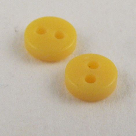 4mm Yellow 2 Hole Button