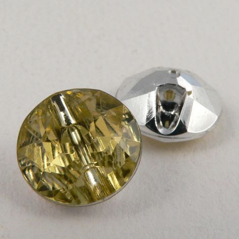 12mm Pale Yellow Faceted Shank Button