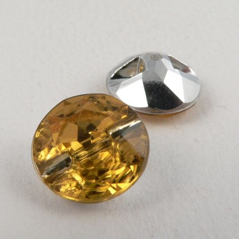 12mm Amber Faceted Shank Button
