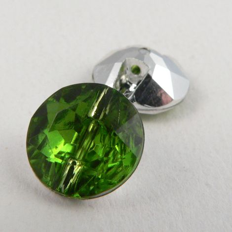 12mm Green Faceted Shank Button