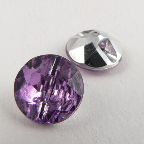 12mm Lilac Faceted Shank Button