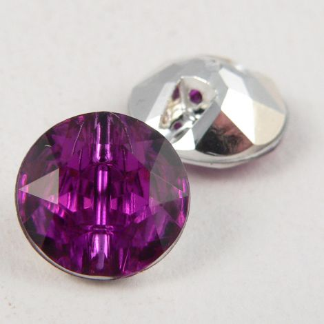 12mm Purple Faceted Shank Button