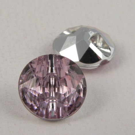 12mm Pale Pink Faceted Shank Button