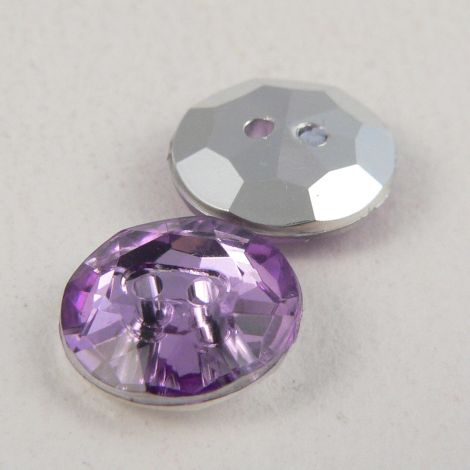 12mm Lilac 2 Hole Faceted Button